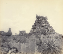Tanjore Pagoda. General view from outside the Fort